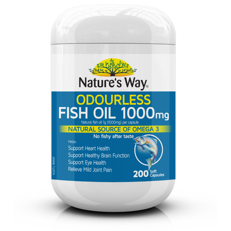 Odourless Fish Oil 1000mg 200s