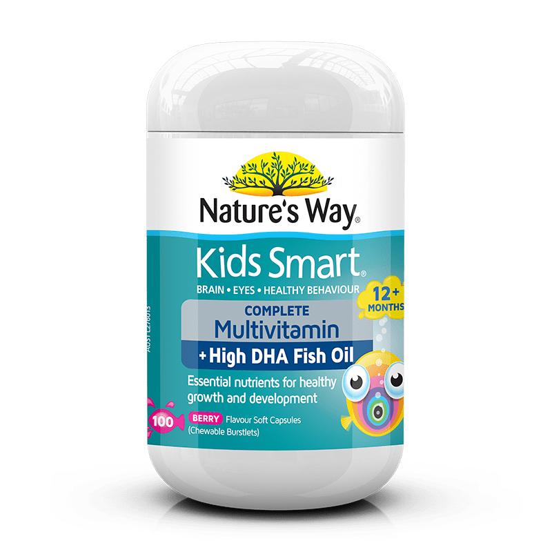 KIDS SMART BURSTLETS COMPLETE MULTIVITAMIN + HIGH DHA FISH OIL 100s