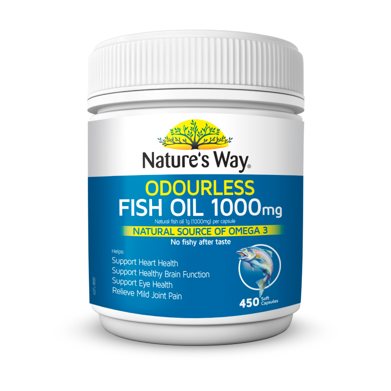 Odourless Fish Oil 1000mg 450s