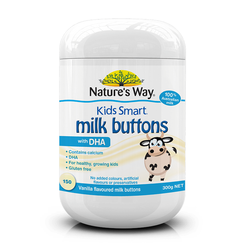 523032 kids smart milk buttons dha vanilla 150s
