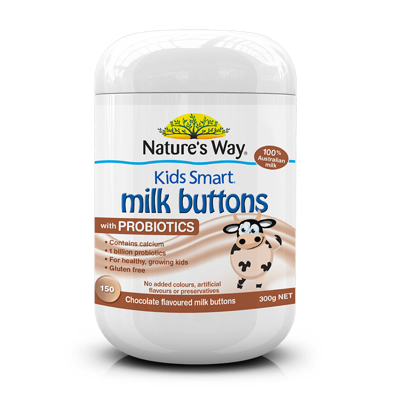 523033 kids smart milk buttons probiotics chocolate 150s