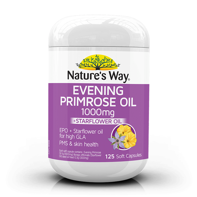 Nature's Way EVENING PRIMROSE OIL 1000mg + STAR FLOWER 125s