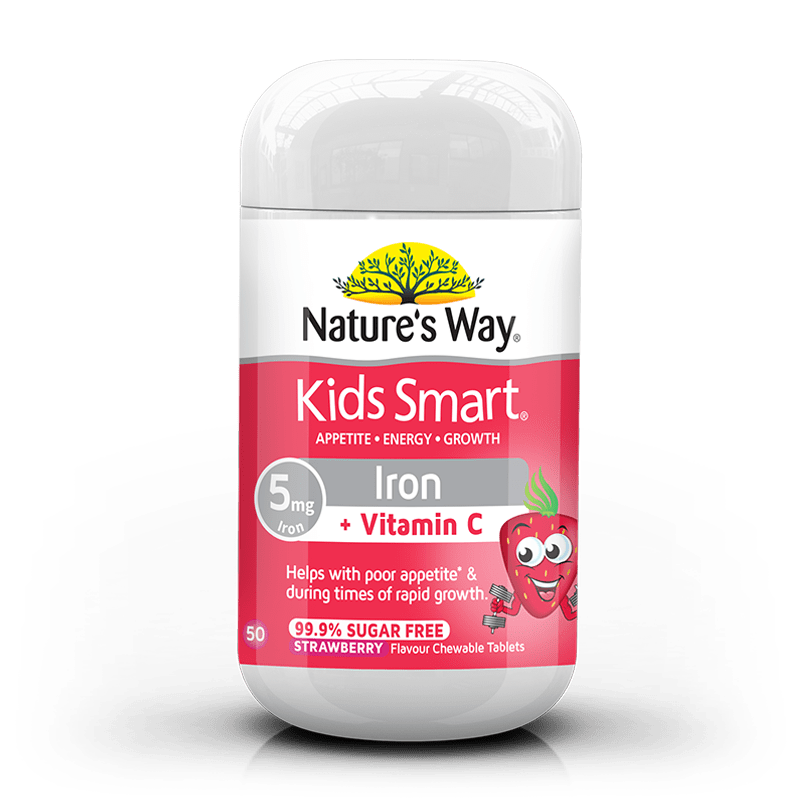 Nature's Way Kids Smart Iron Chewable Tablets 50s