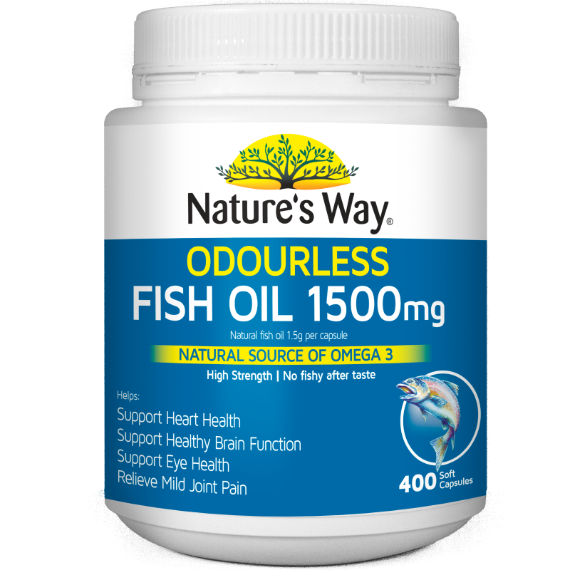 Nature's Way Odourless Fish Oil 1500mg 400s