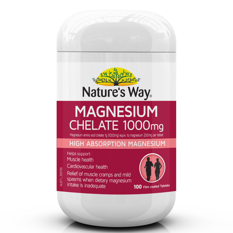 Nature's Way Magnesium Chelate 1000mg 100s