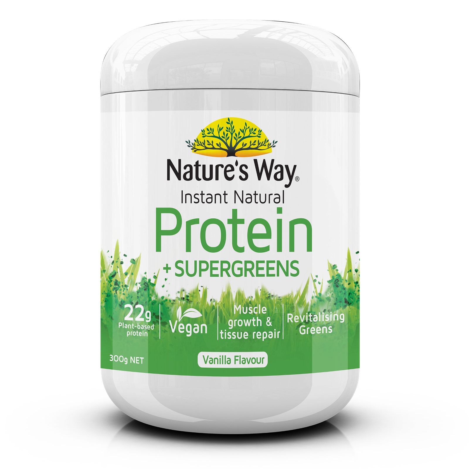 Instant Natural Protein + Supergreens 300g