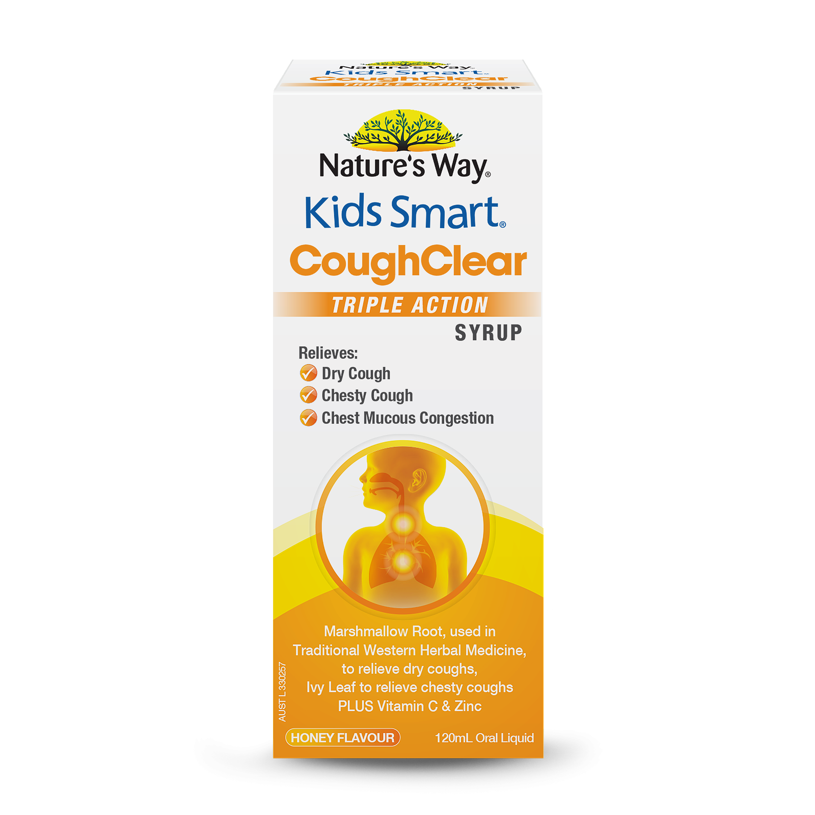 Kids Smart Cough Clear Triple Action Syrup 120mL