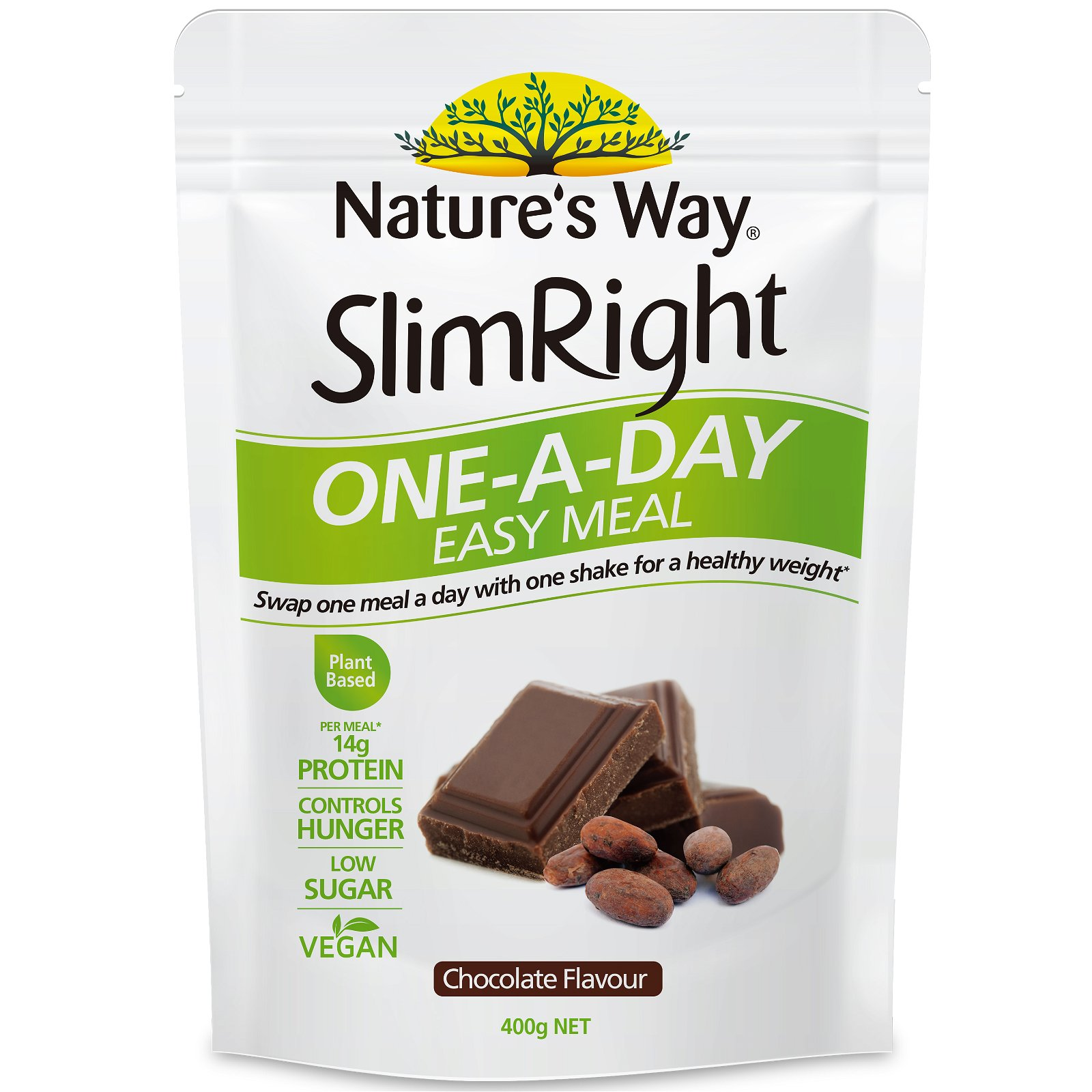 SlimRight One-A-Day Shake Chocolate 400G