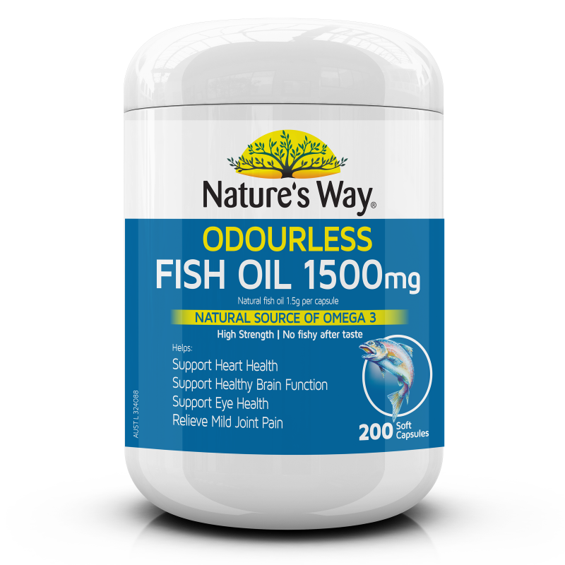 Odourless Fish Oil 1500mg 200s