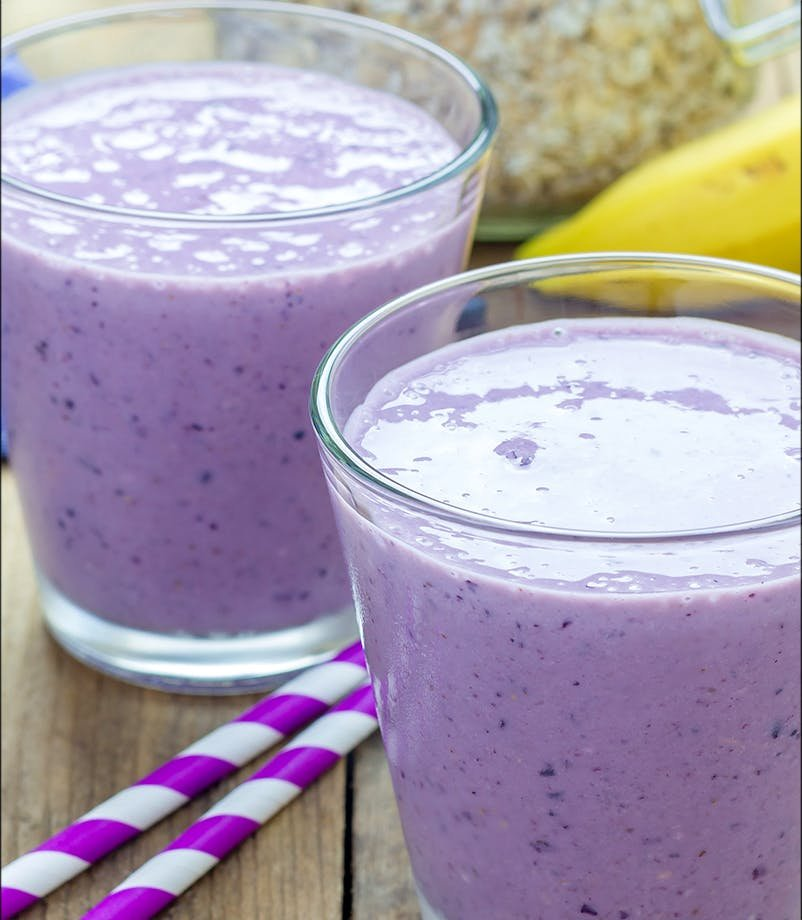 Maca and Blueberry Smoothie
