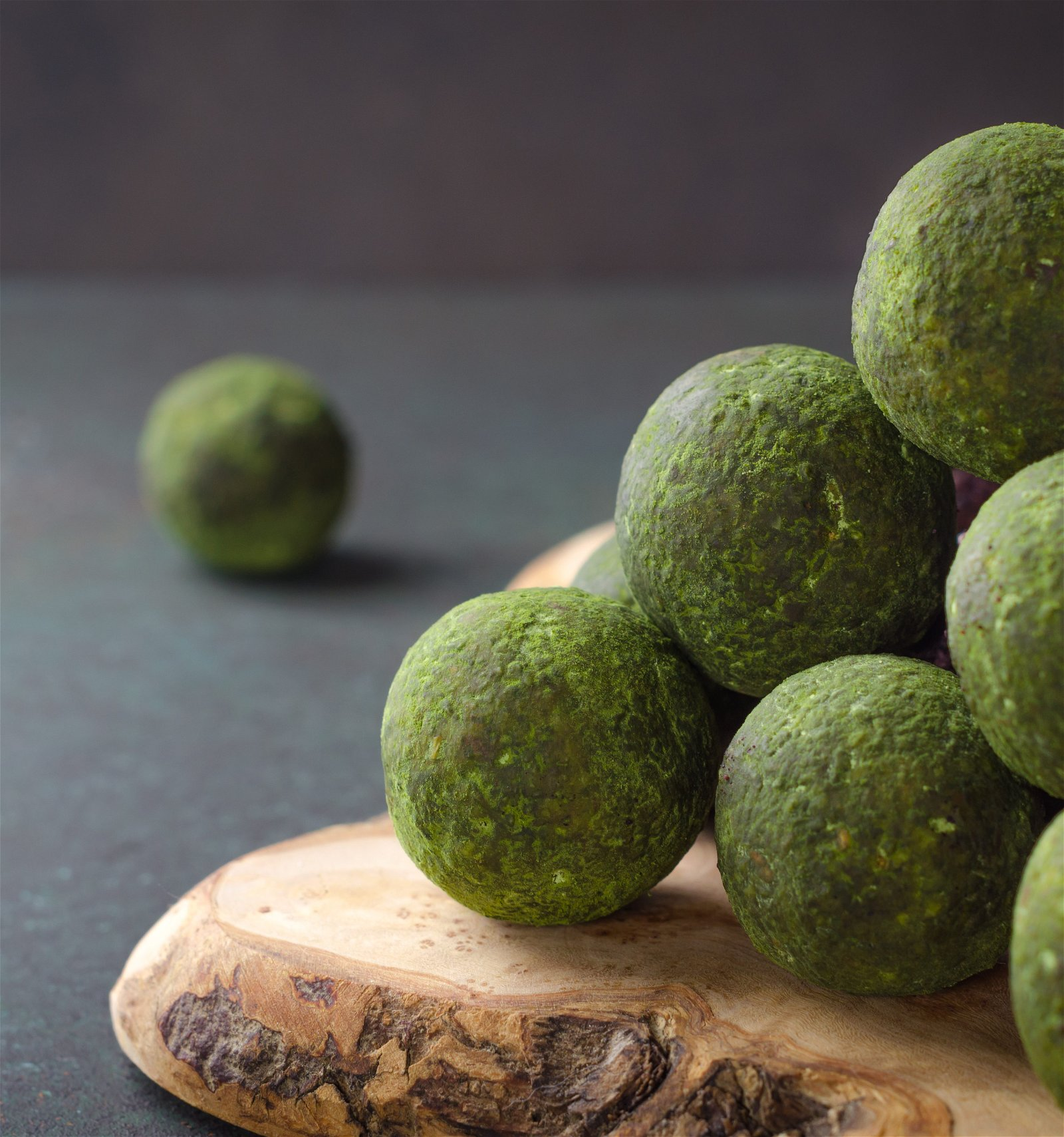Green tea & spirulina balls